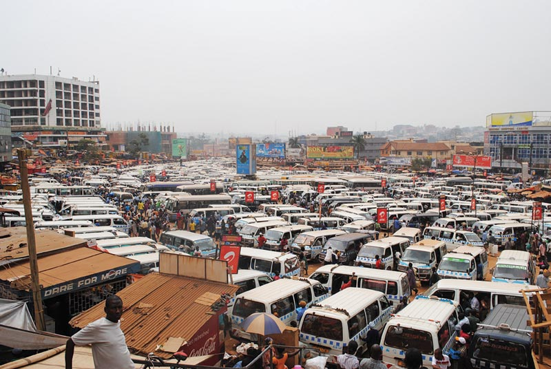 Uganda Crowded Parking Lot