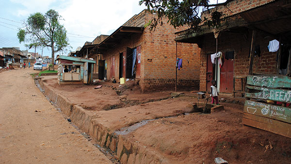 Uganda Homes on a Dirt Road