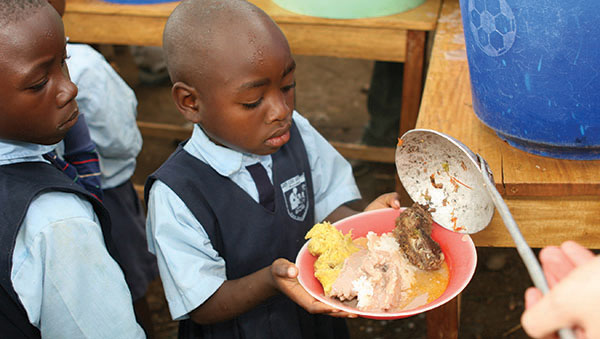 Uganda Kids Getting Served a Nutritious Meal
