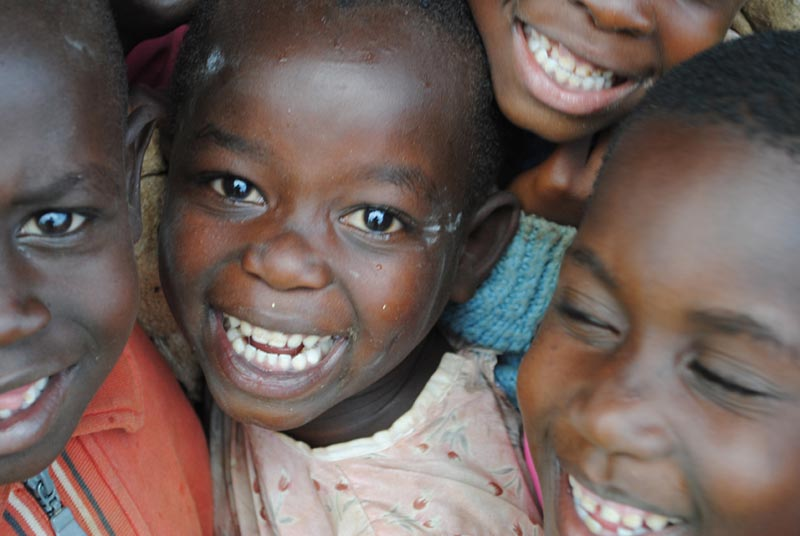 Uganda Smiling Children Closeup