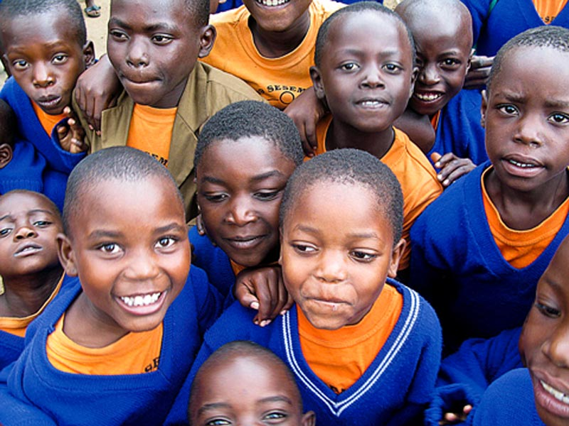 Uganda Smiling Group of Children