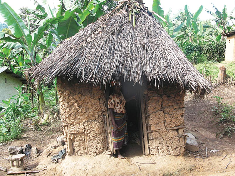Uganda Woman in the Doorway of a Hut