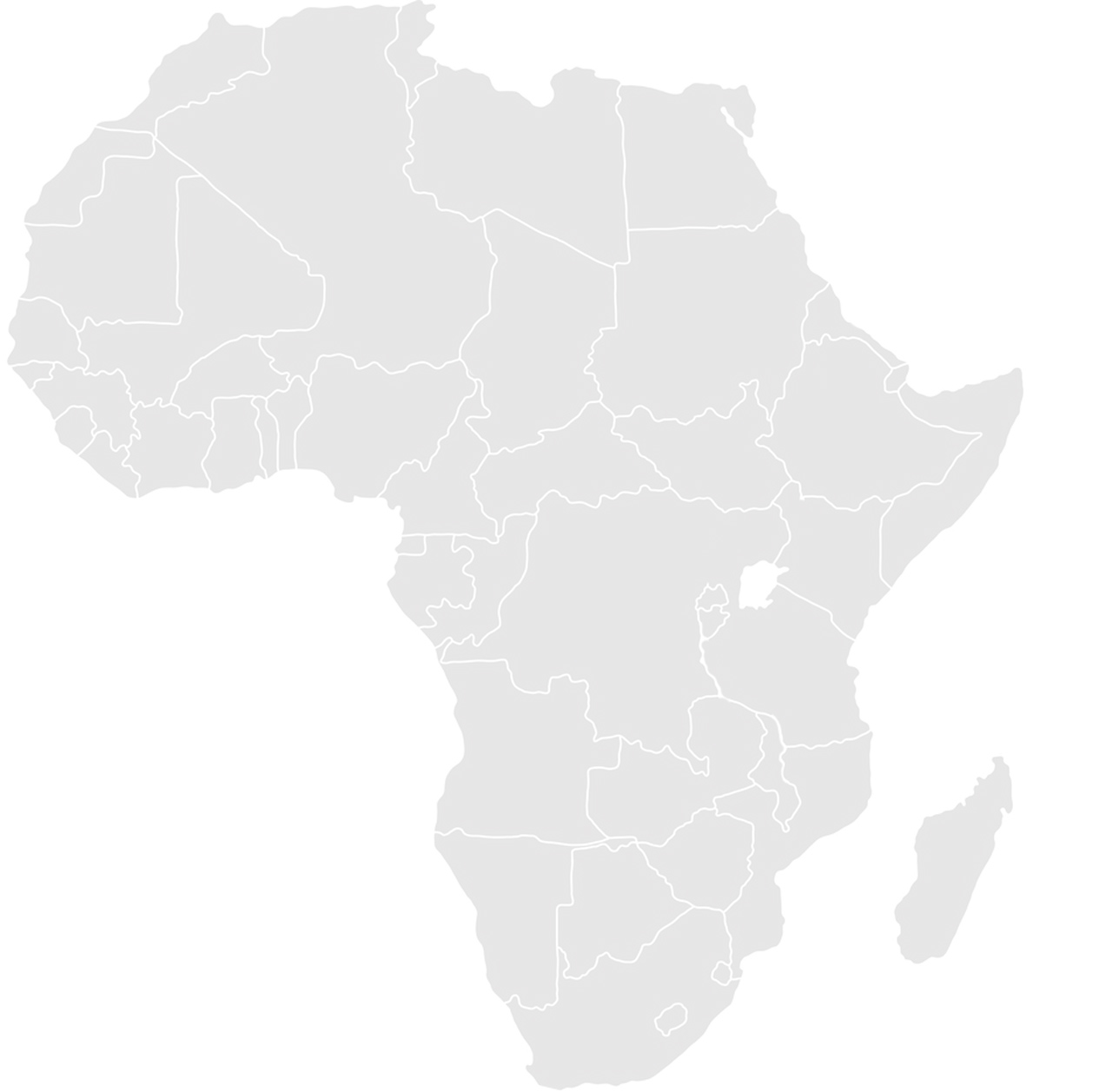 Gray map of Africa