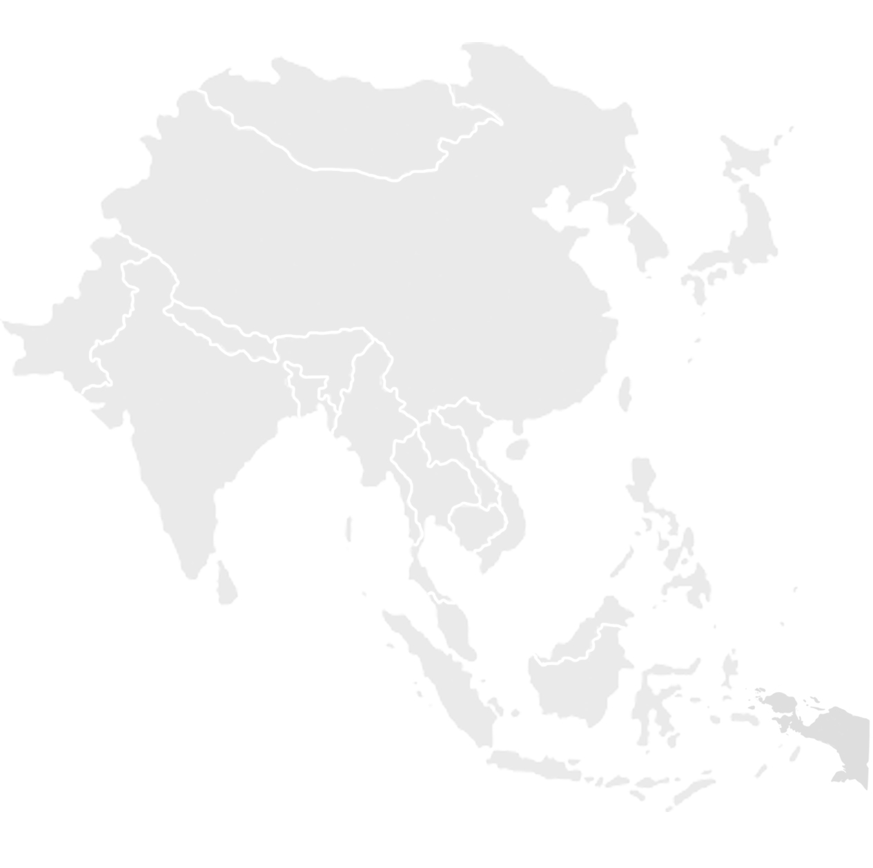 Gray map of Asia