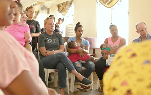 Billie   Jauss visits a Compassion center