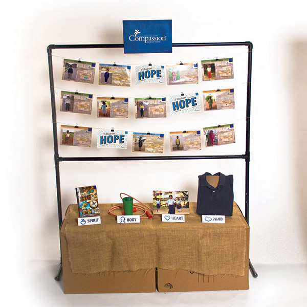 Compassion Distinctive kit and display