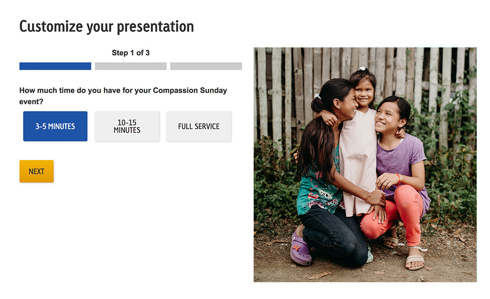 Image of three girls on the presentation planner