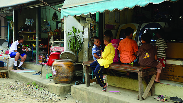Thailand children sitting
