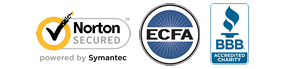 Norton secured, ECFA Member, Charity Navigator Four-Star Charity, BBB Accredited